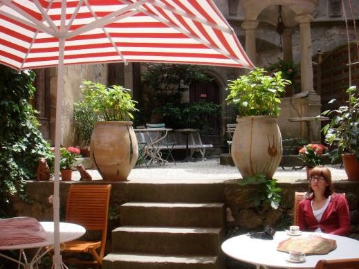 In the garden of Hotel D'Alibert