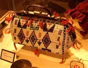 Indian beaded bag