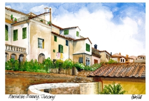 Montalcino Morning, Tuscany painting