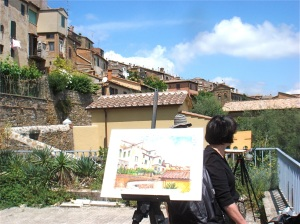 Montalcino, the painting on location
