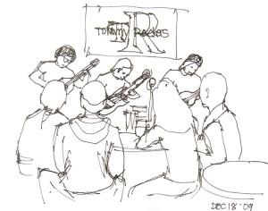 Tommy Rocker's - Line Sketch