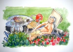 Milton not gardening