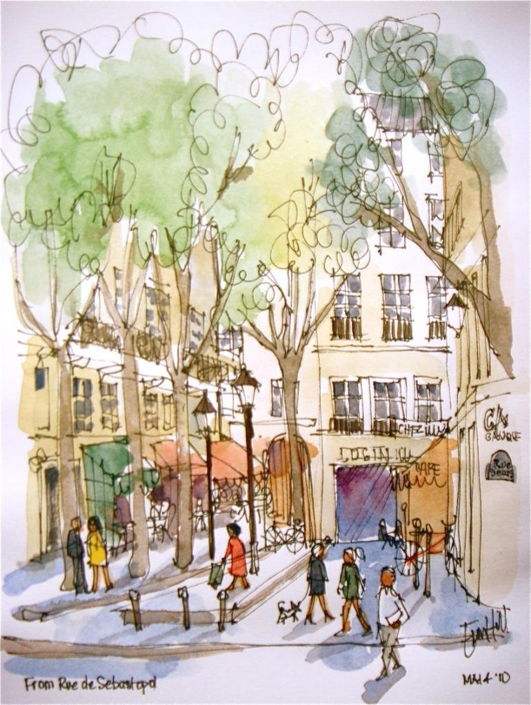 From Rue de Sebastopol