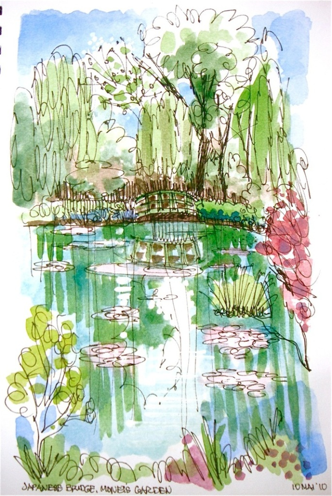 Japanese Bridge, Monet's Garden