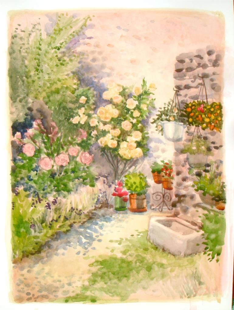 Full Bloom. Summer kitchen garden, Trausse