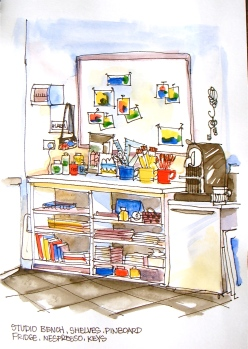 Studio storage corner