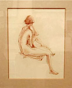 Chalk Life Drawing from 1987