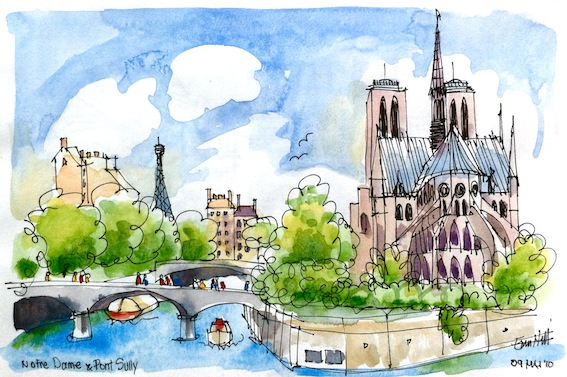 Notre Dame, from Pont Sully