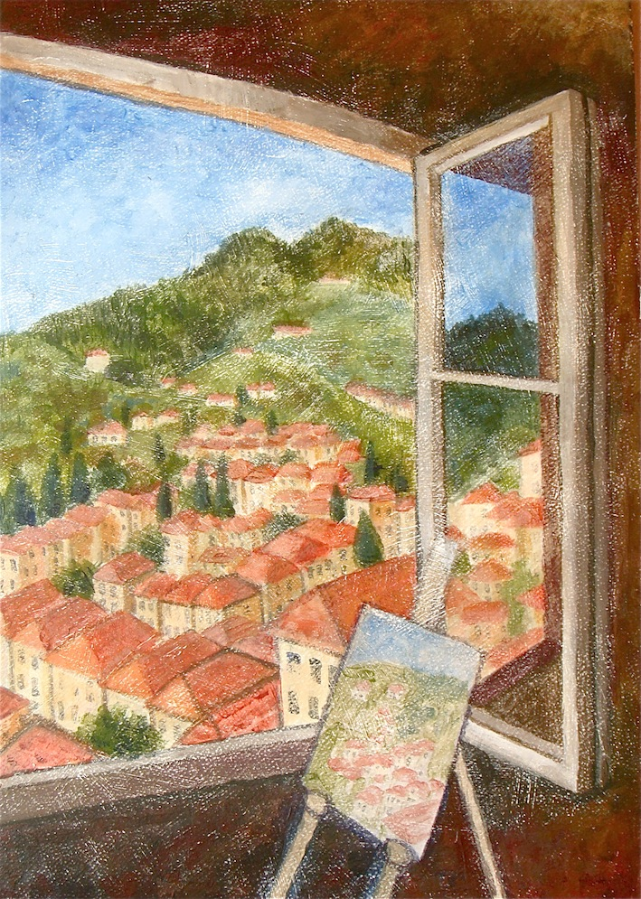 View over Barga,Tuscany Italy 1