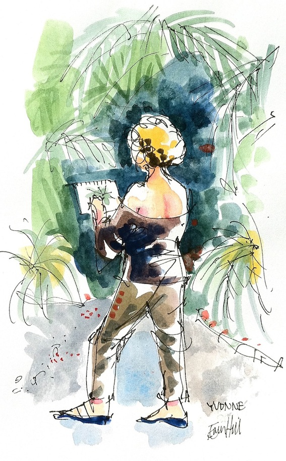 Yvonne In the Palm Grove
