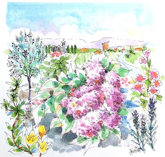 French Village Garden