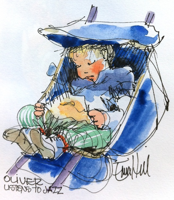 Oliver sleeps through