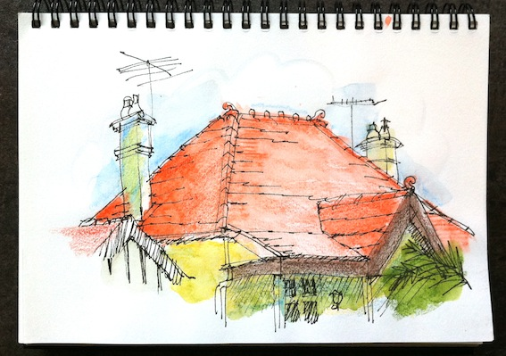 Roof lines & Chimneys - 1st colours