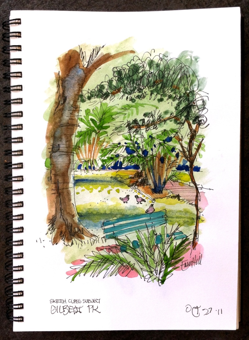 Outside- Sketching in the Park