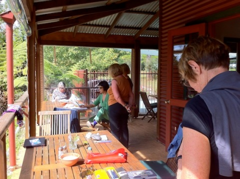 Morning sketching at Bilpin Springs Lodge