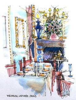The Salon. Laduree, Paris