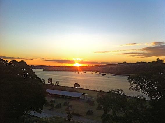 5pm Sun setting