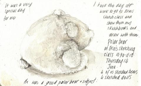 Alissa's  Studio sketch of Polie Bear