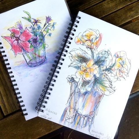 Friday June 15 Flower sketch