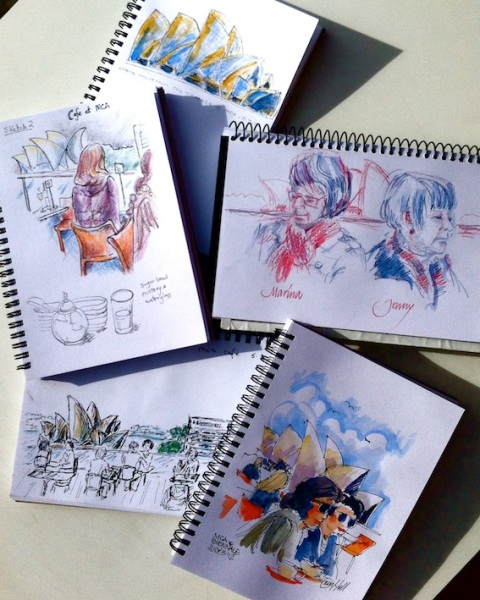 Our Sketchbooks at MCA