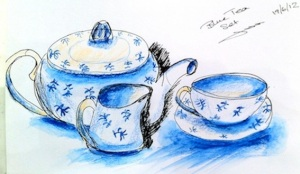 Tuesday June 19 Tea set by Jackie