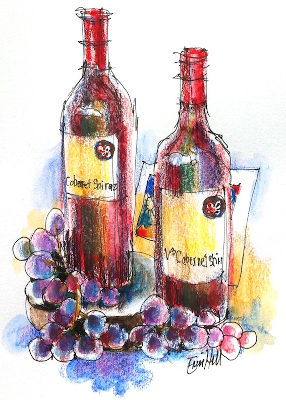 Wine & food Still life for Sketching Classes