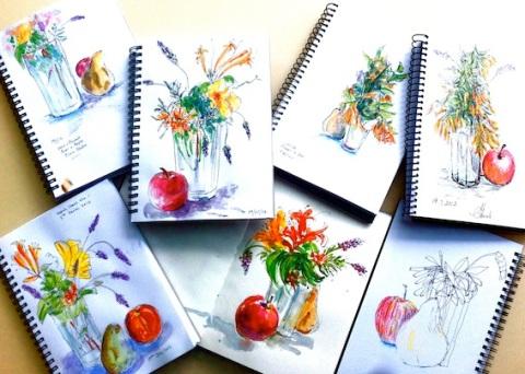 Flower & Fruit still life
