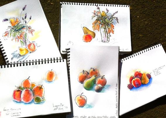 Friday Class, Flowers Fruit still life