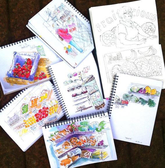 Fruitilicious Sketches