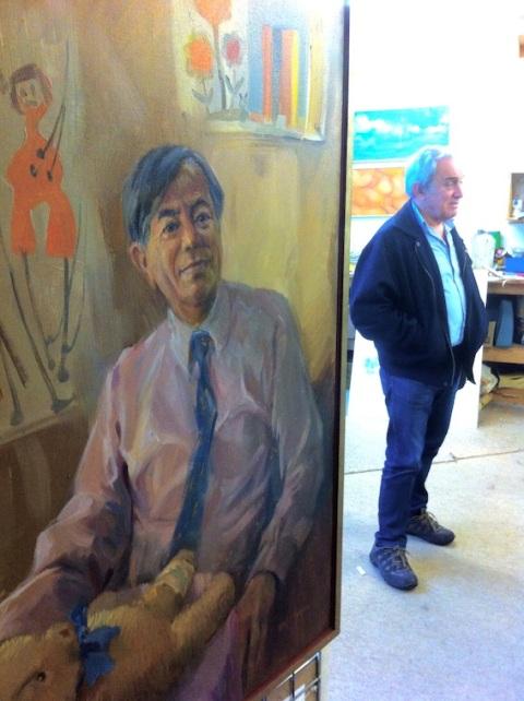 David with Dr John Wu portrait