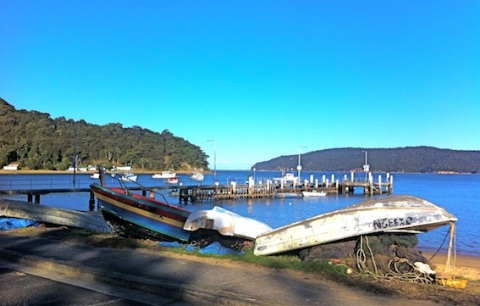 End of the day, Patonga