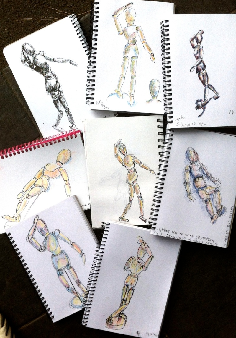 Friday Aug 10. Mannequin Sketches