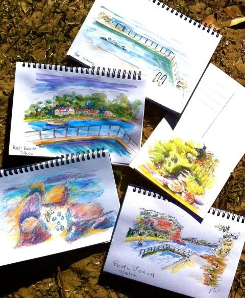 Pearl Beach Sketches