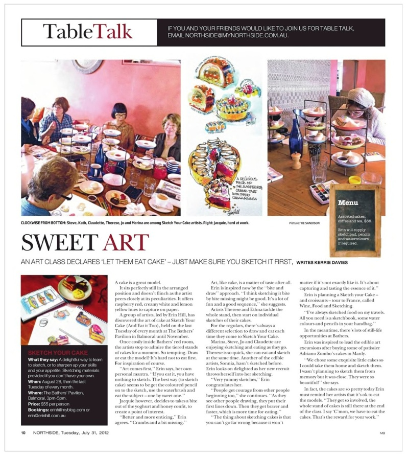 SketchyourCake article in Northside Mag