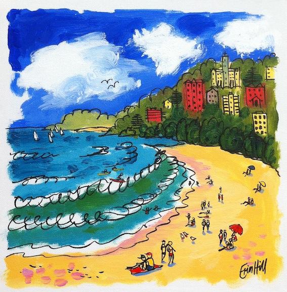 Beach Sketch Painting