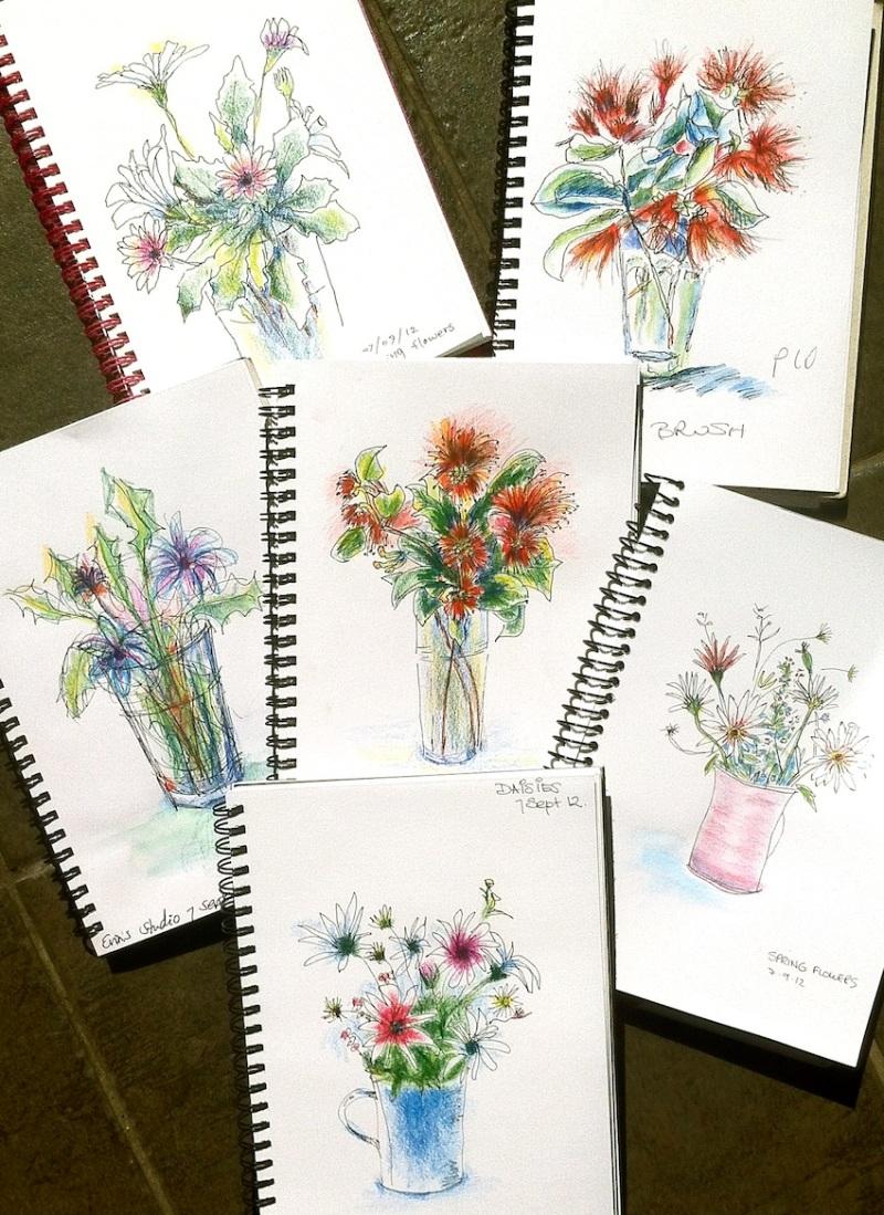 Friday Sept 7 '12. Fresh Spring Flowers.