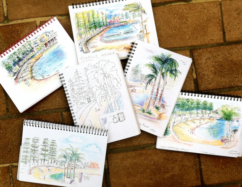 Friday Sept 7. Manly Cove Sketches.