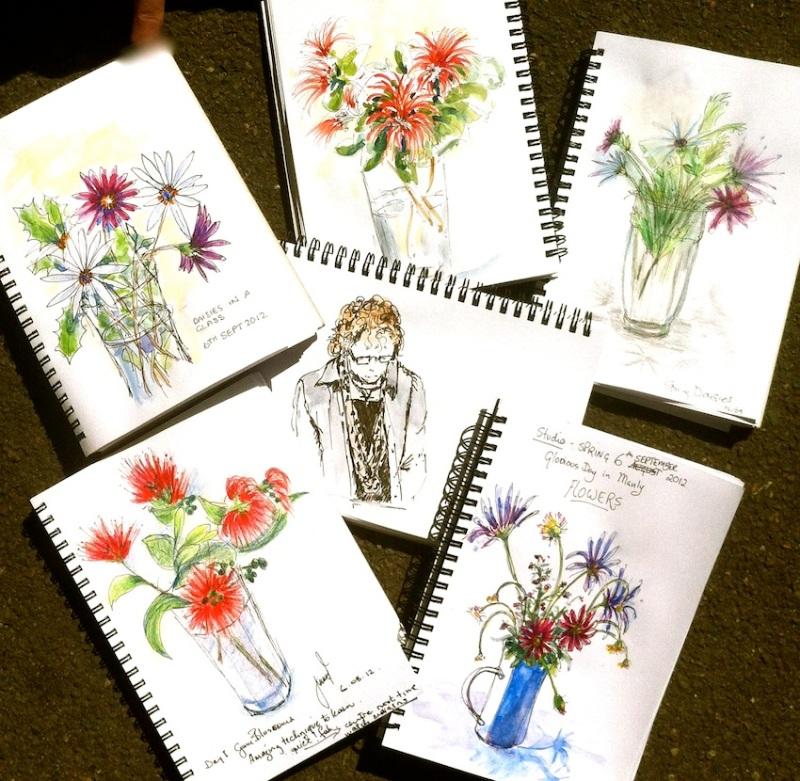 Thursday Sept 6 '12. Spring Blooms & a Sketcher