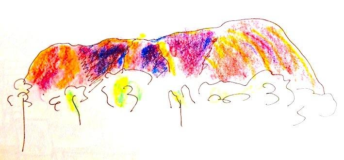 Atsuko, Sunset Ayers Rock
