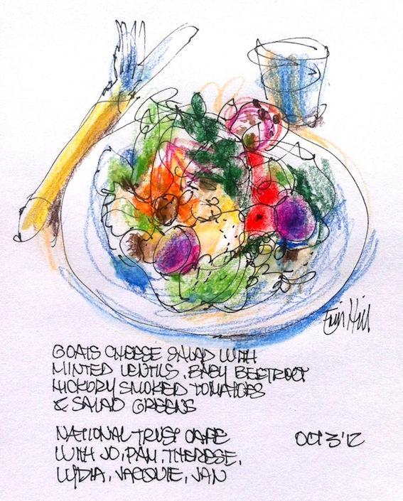 Goat's cheese salad - salade de fromage de chèvres