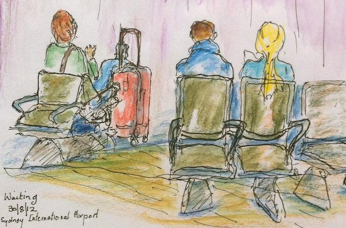 Jenny C. Waiting at Sydney Int, Airport