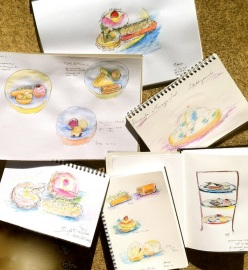 Oct 30 '12. Irresistible cake sketches