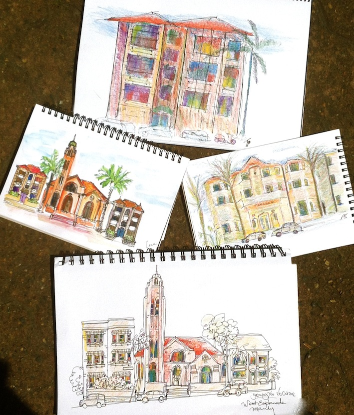 Sat Oct 27. Streetscape sketching