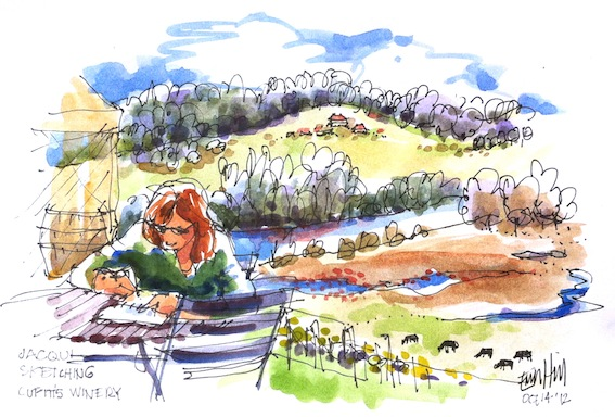 Sketching. Cupitt's Winery