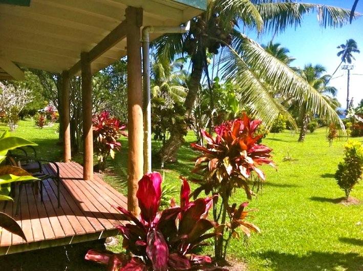 Bure verandah