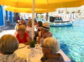 Lunch on the harbour Greek Isles