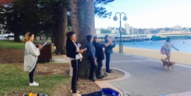 Manly Cove sketchers