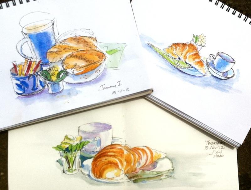 Thurs Nov 15. Croissants, baguettes and coffee