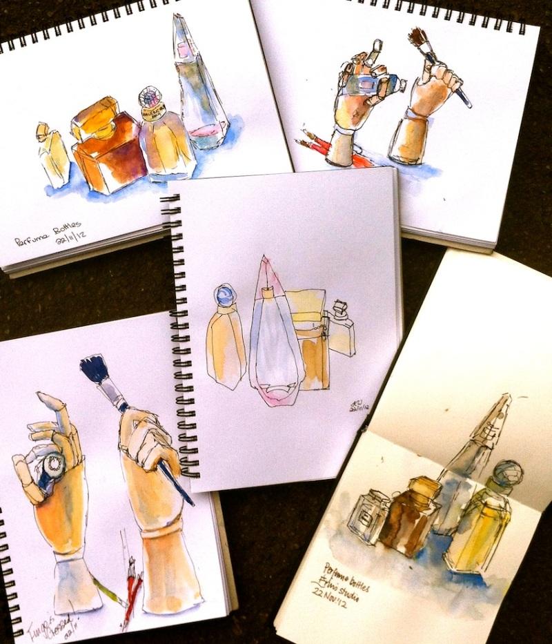 Thurs Nov 22. Perfume & Wooden hands
