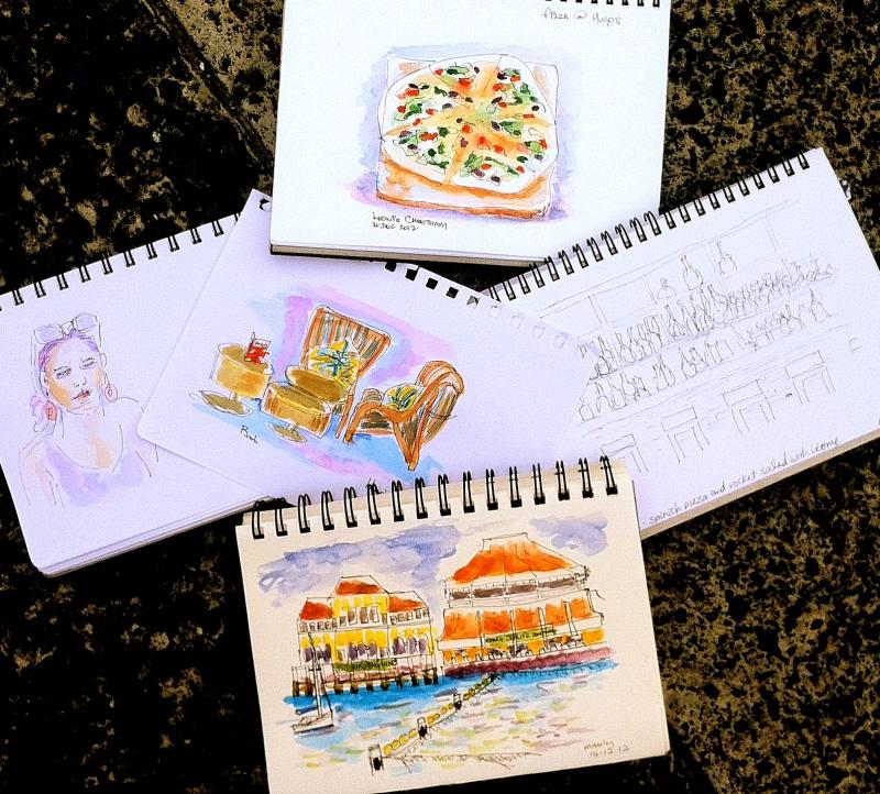 Fri Dec 14 '12. Sketching at Hugo's